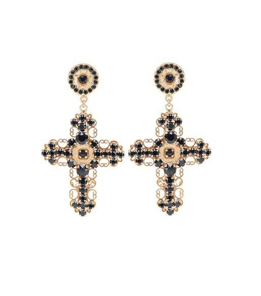 Crystal Clip-On Earrings - Dolce & Gabbana | mytheresa.com