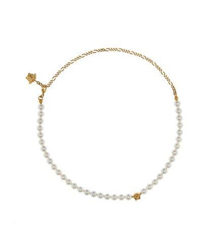 Medusa faux pearl necklace