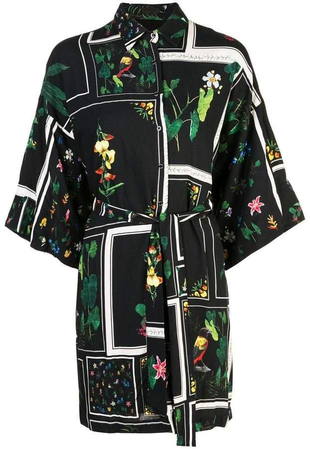 floral print shirt dress