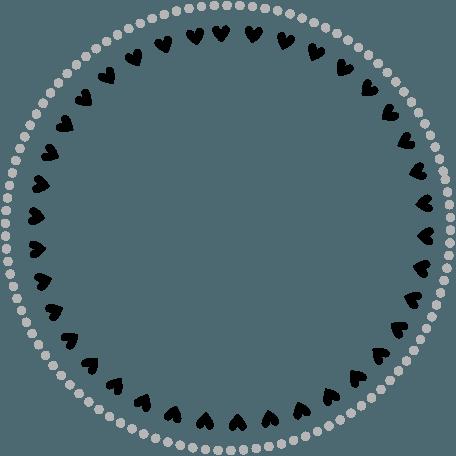 Heart Circle Border