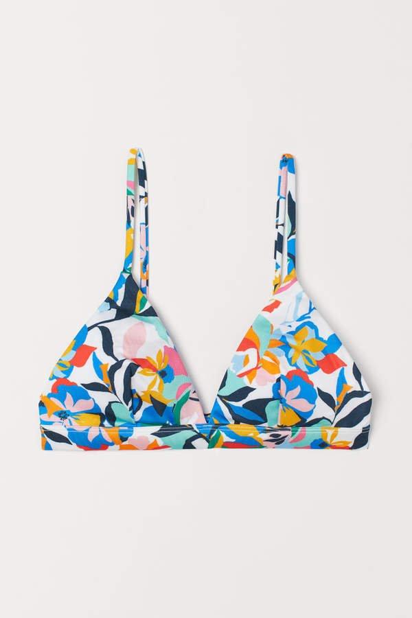 Triangle Bikini Top - White