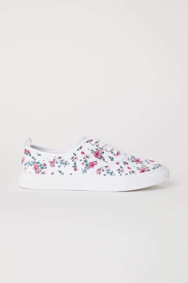 Canvas Sneakers - White