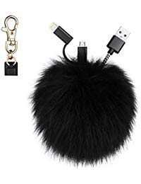 Amazon.com: pom pom keychain: Clothing, Shoes & Jewelry