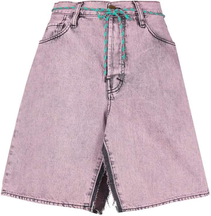 Aceed open denim skirt