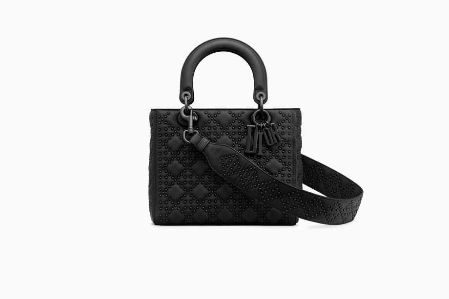 Lady Dior bag in black calfskin - Dior