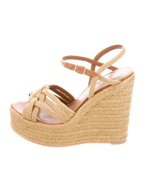 Saint Laurent Platform Wedge Sandals - Shoes - SNT53748   The RealReal