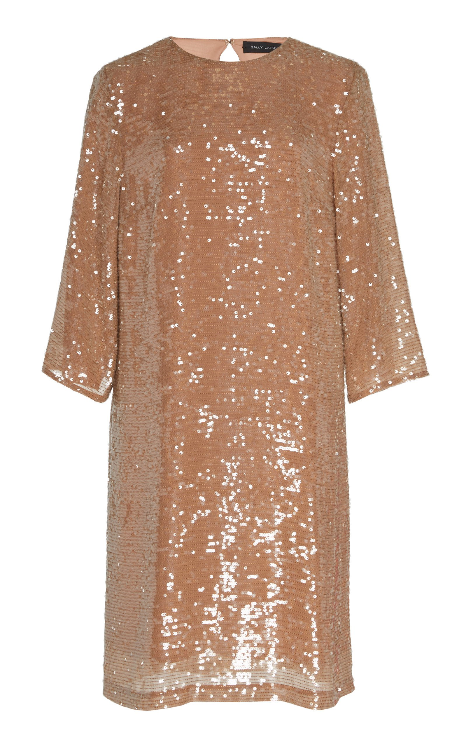 Sally LaPointe Sequin Viscose Tailored Shift Dress