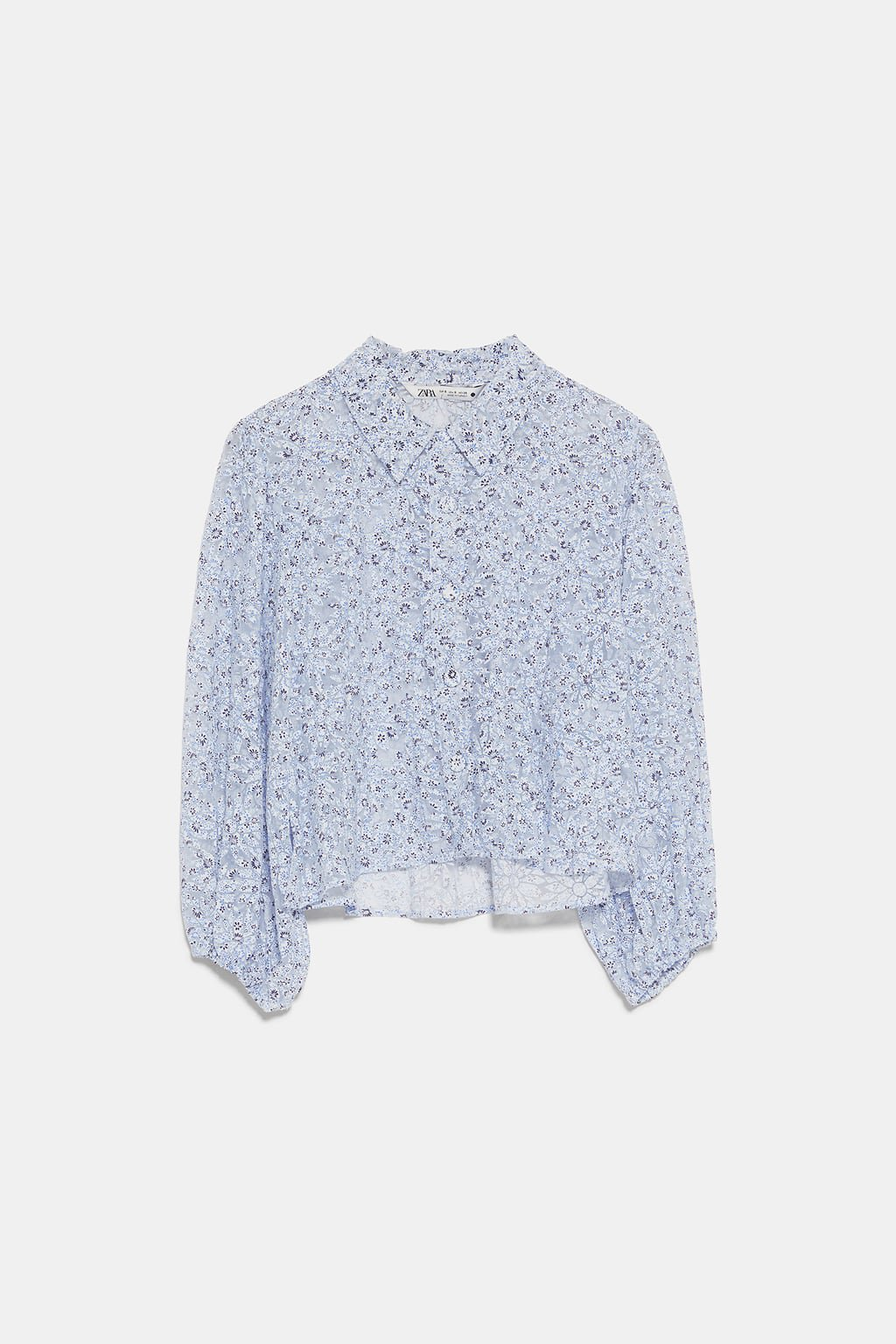 FLORAL ORGANZA BLOUSE - NEW IN-WOMAN | ZARA United States blue