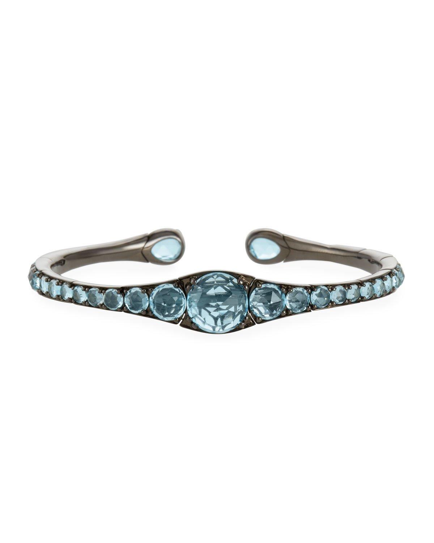 Etho Maria 18k Gold, Rhodium & Blue Topaz Bracelet