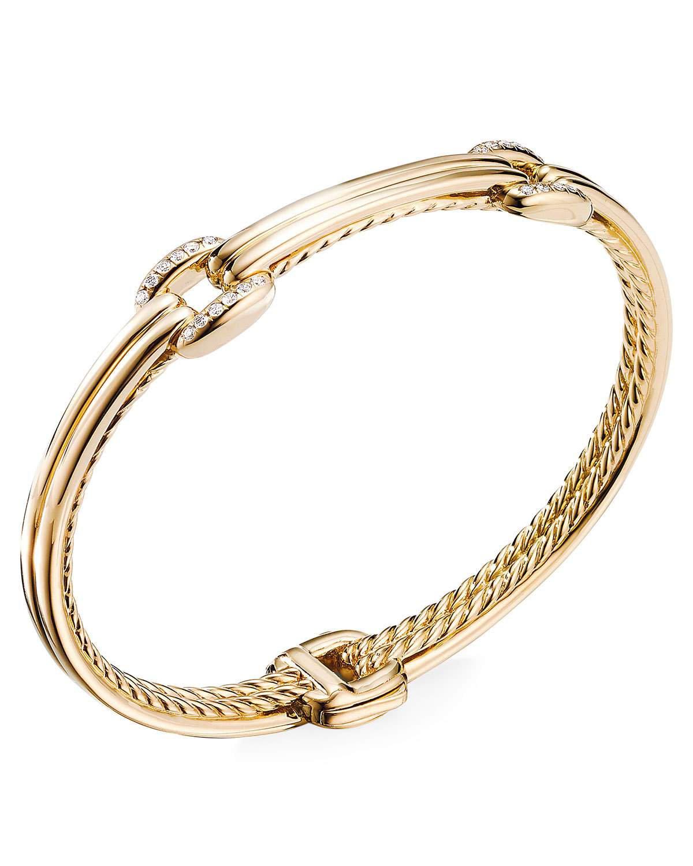 David Yurman Thoroughbred 18k Double-Link Diamond Bracelet, Size S and Matching Items & Matching Items | Neiman Marcus