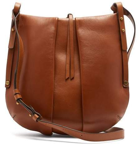 Lecky Panelled Leather Cross Body Bag - Womens - Brown