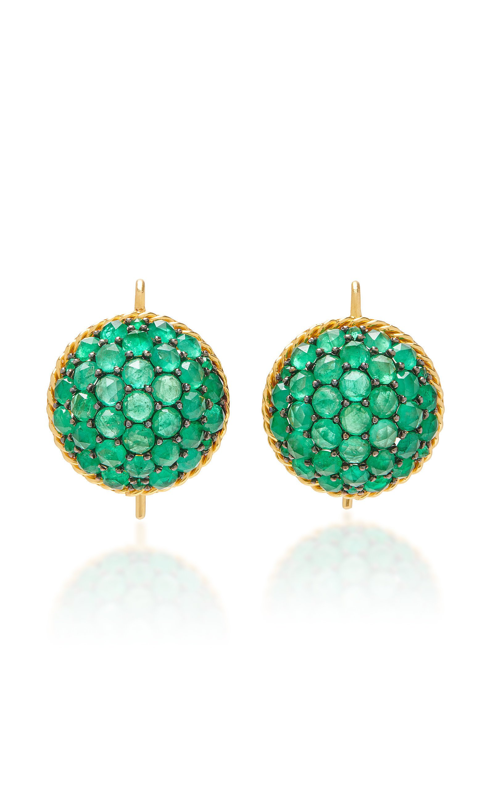 Parulina 18K Gold And Emerald Earrings