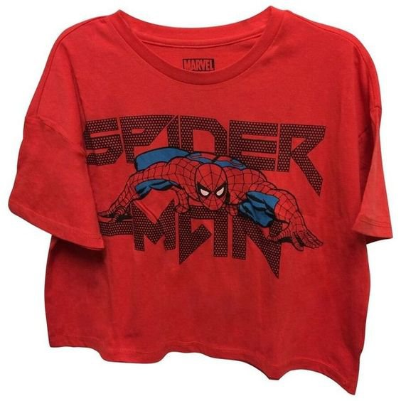 Crop Top Shirts Officially Licensed Womens Marvel Spider-Man Crop Top