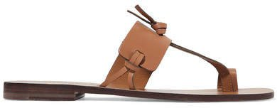 Knotted Leather Sandals - Tan