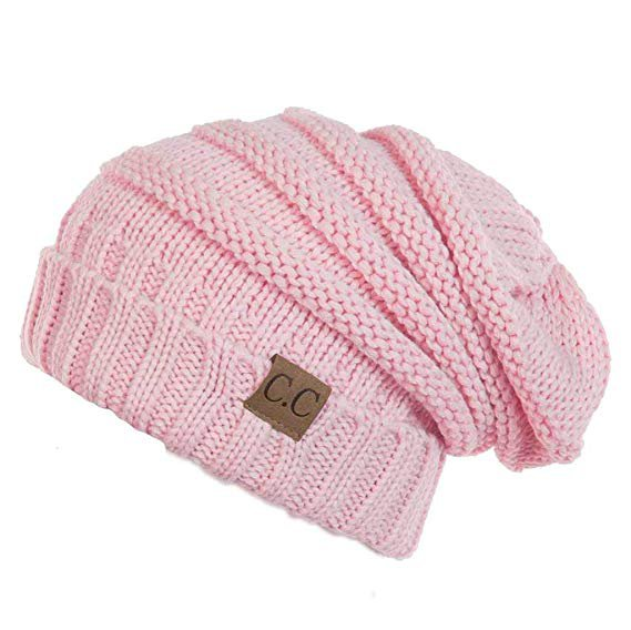 H-6100-29 Funky Junque Oversized Slouchy Beanie - Pale Pink at Amazon Women's Clothing store: