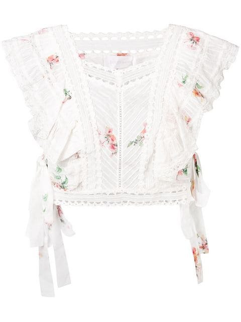 Zimmermann Heathers pintuck top $523 - Buy SS19 Online - Fast Global Delivery, Price
