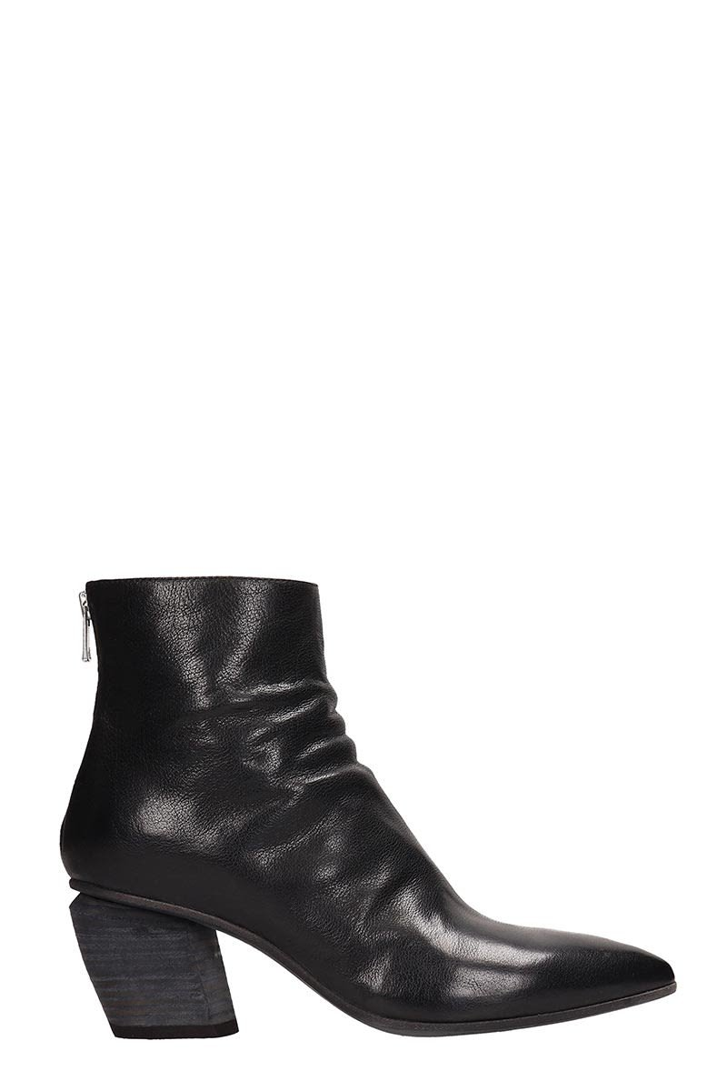 Officine Creative Black Leather Severine Ankle Boots