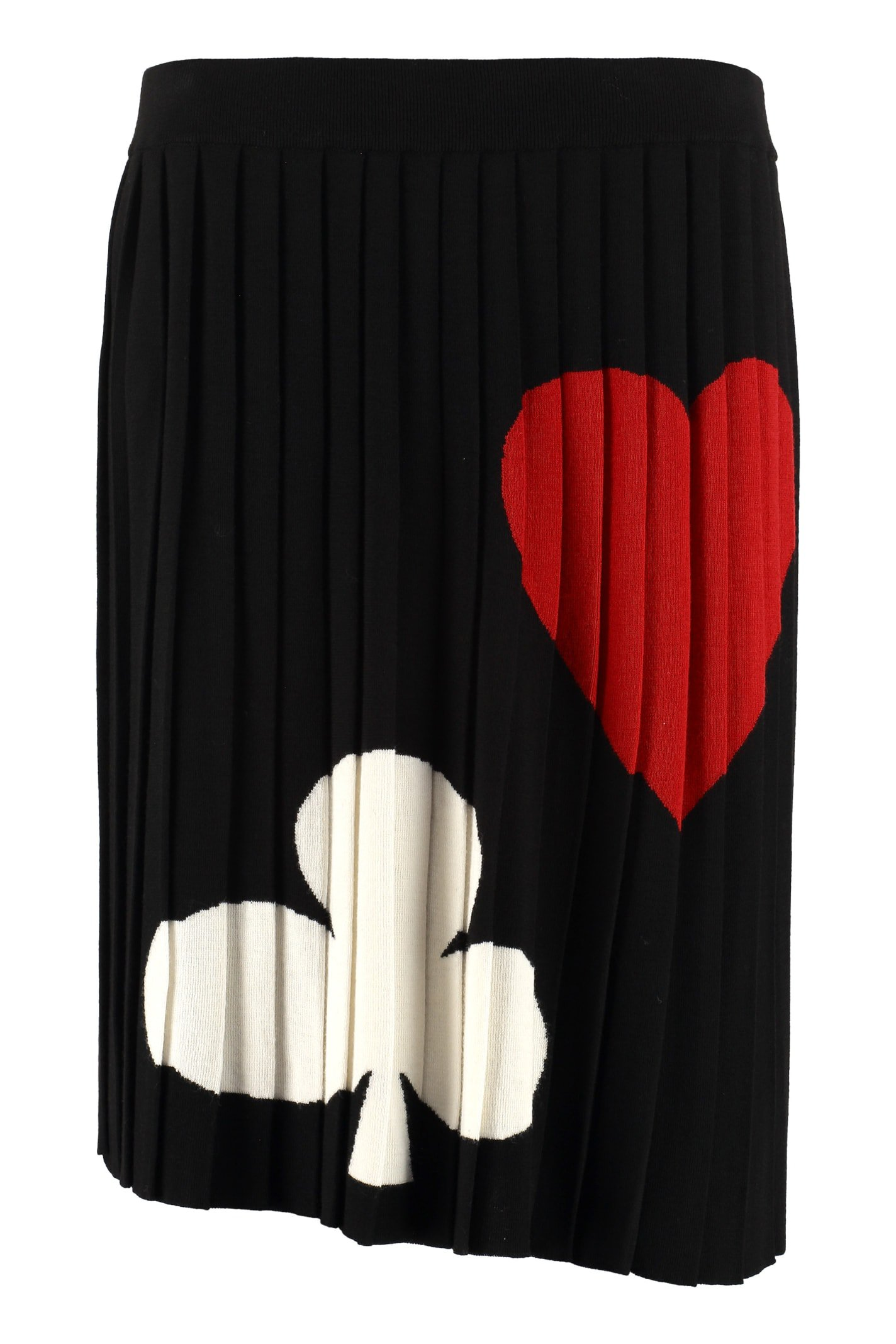 Boutique Moschino Pleated Knitted Skirt