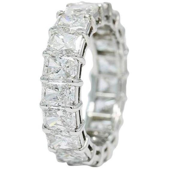 Chopard 7.50 Carats Diamonds Platinum Eternity Band Ring