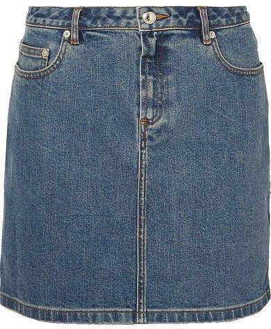 Denim Mini Skirt - Mid denim