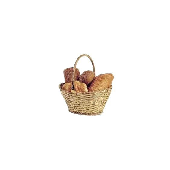 Picnic basket of bread