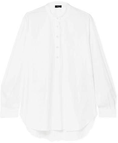 Luke Cotton-blend Poplin Shirt - White