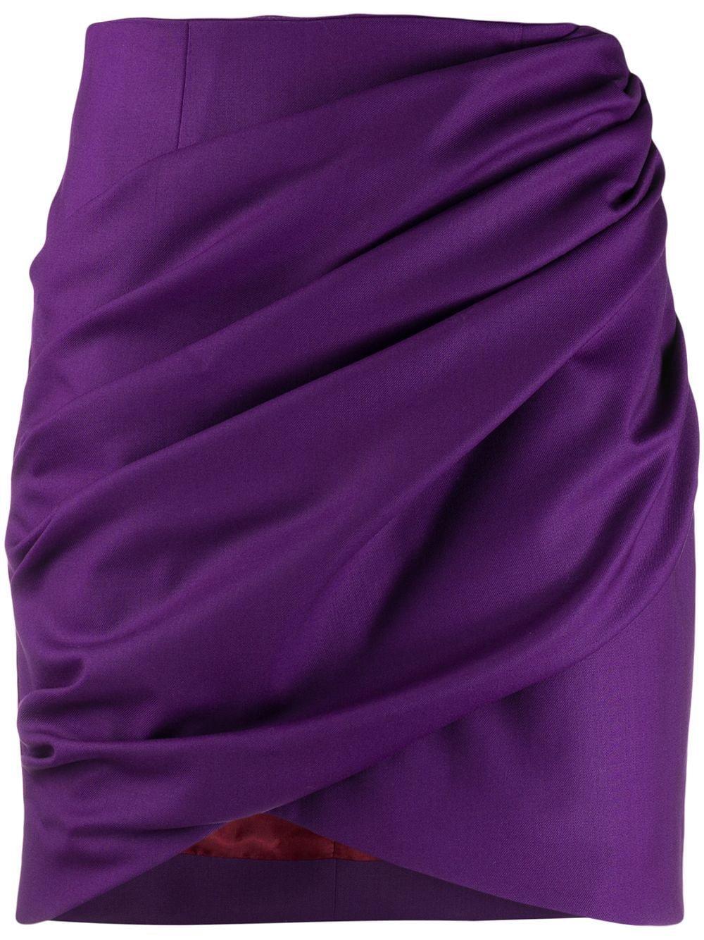 Sara Battaglia Draped Mini Skirt