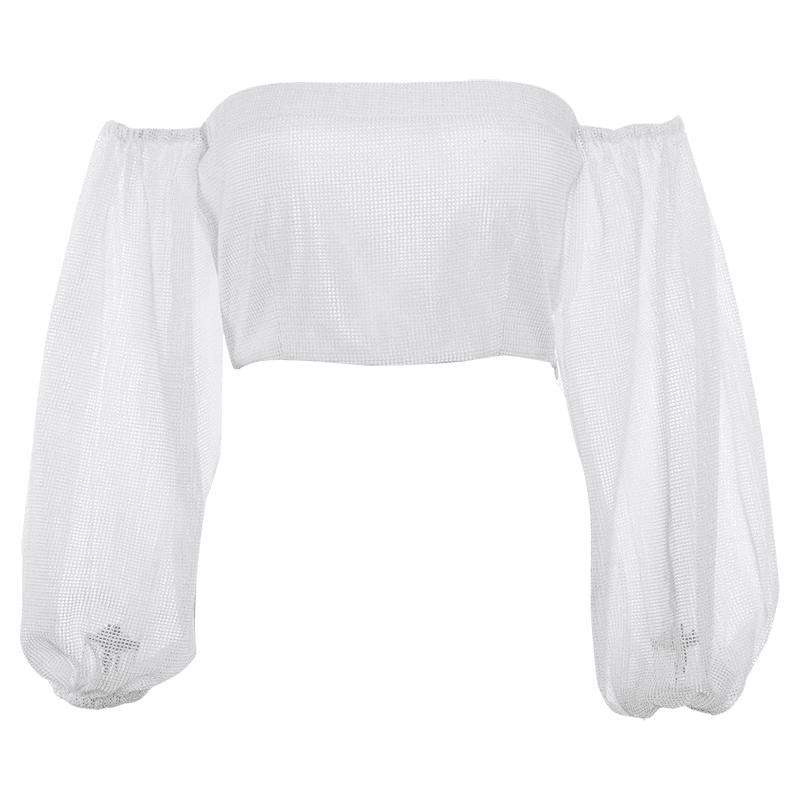 JESSICABUURMAN – CAXIO Off-Shoulder Cropped Top