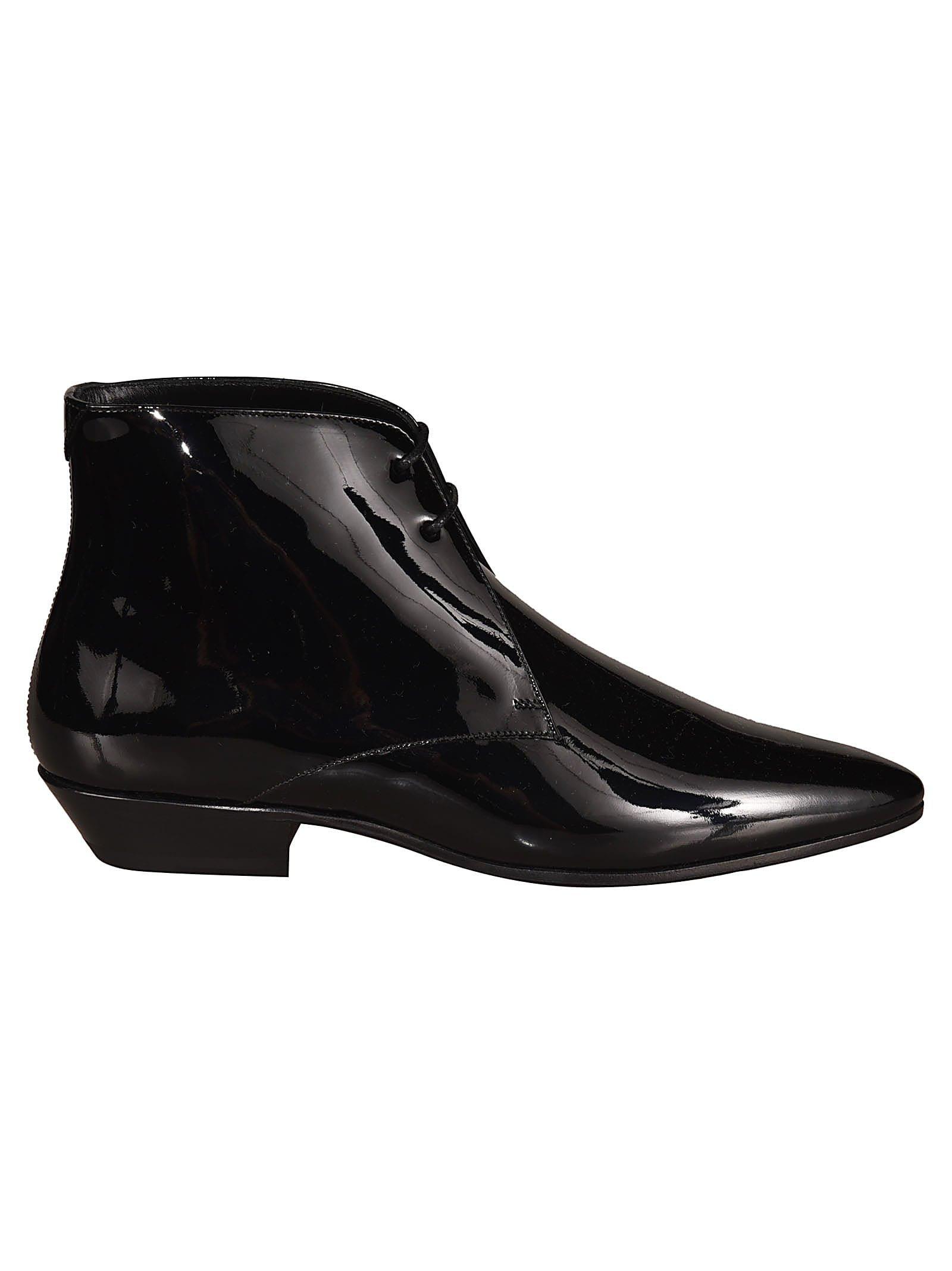 Saint Laurent Jonas 25 Lace-up Ankle Boots