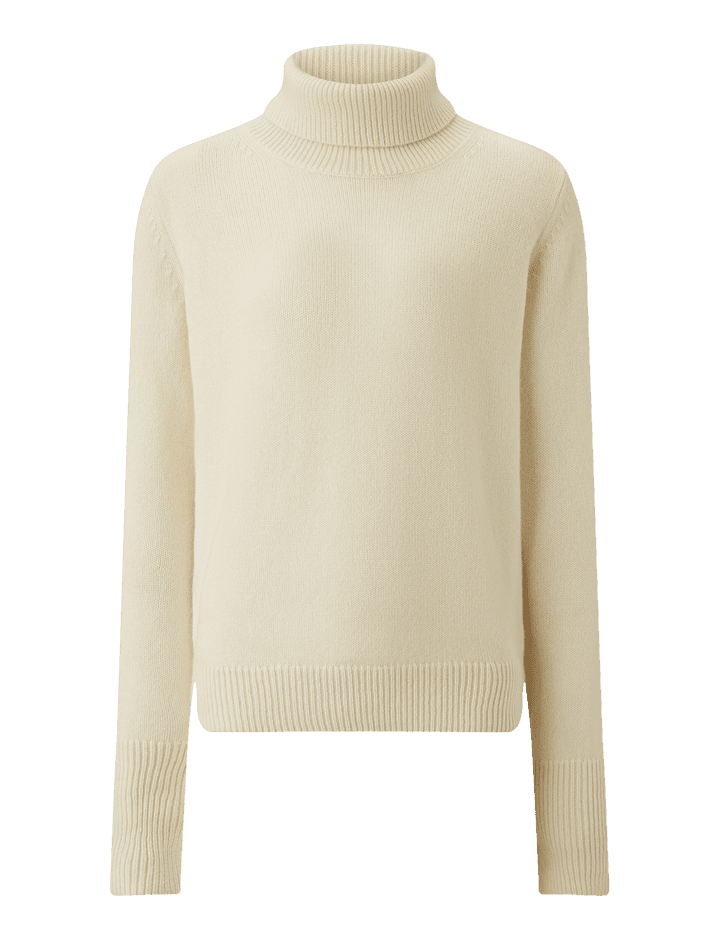Pure Cashmere Knit Trousers in Beige | JOSEPH