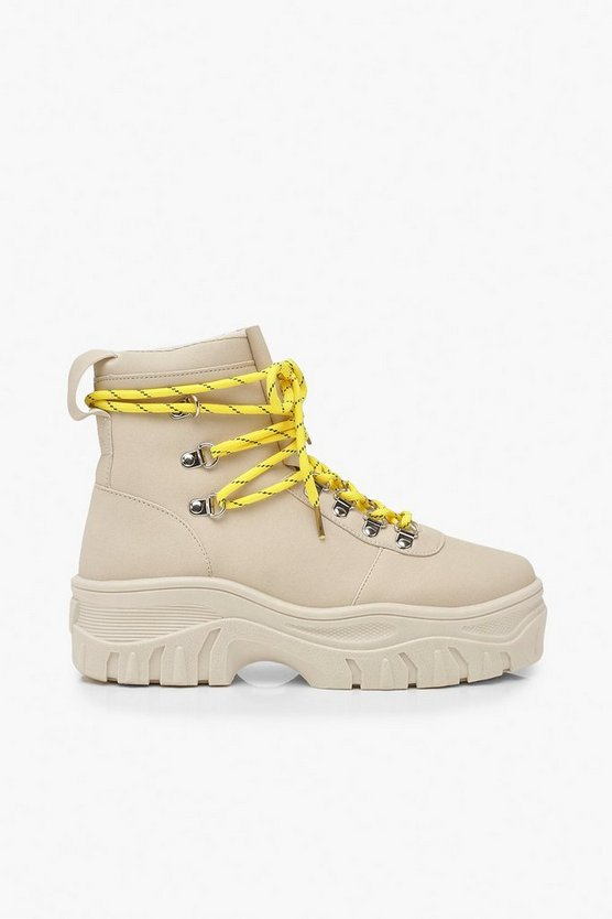 Lace Up Hiker Trainers | Boohoo
