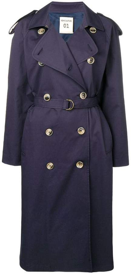 Semicouture belted trench coat