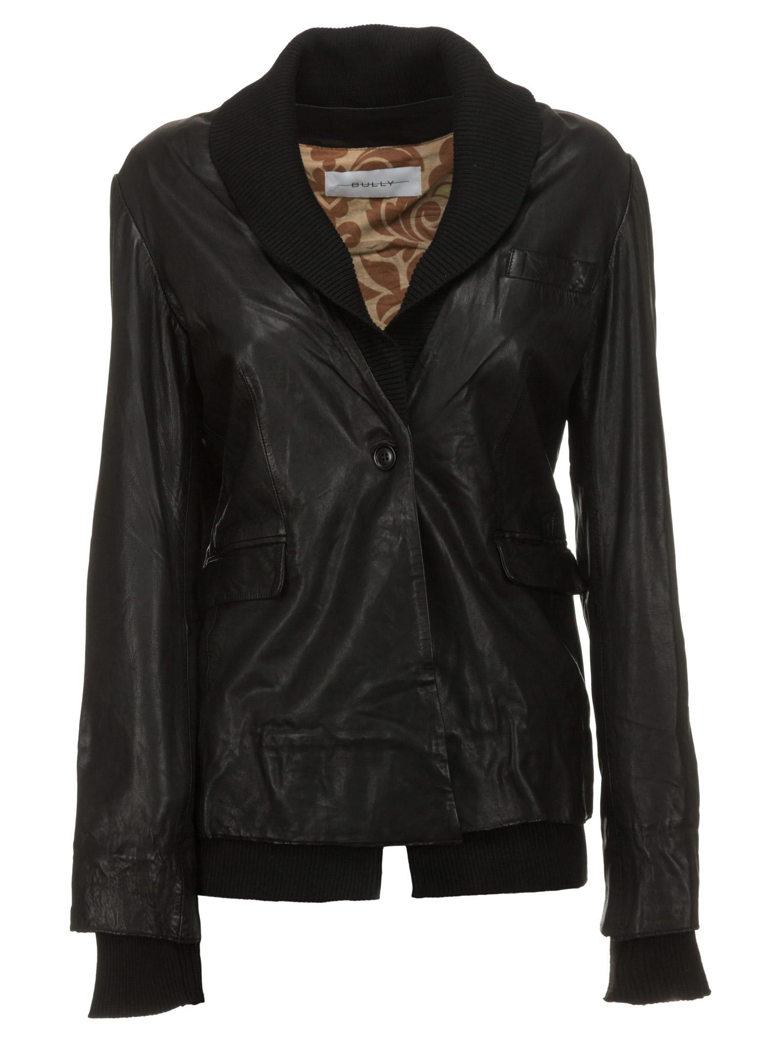 Bully Black Leather Jacket