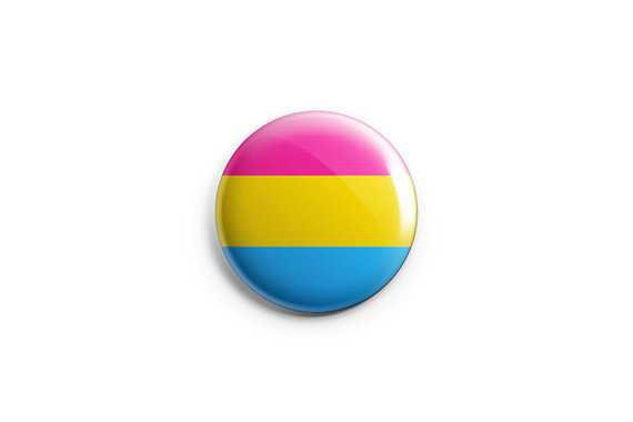 Pride button magnet 1.25 pinback button