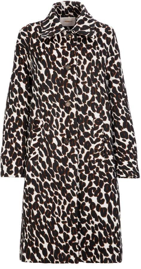 La DoubleJ Oversized Boxy Animal Printed Cocoon Coat
