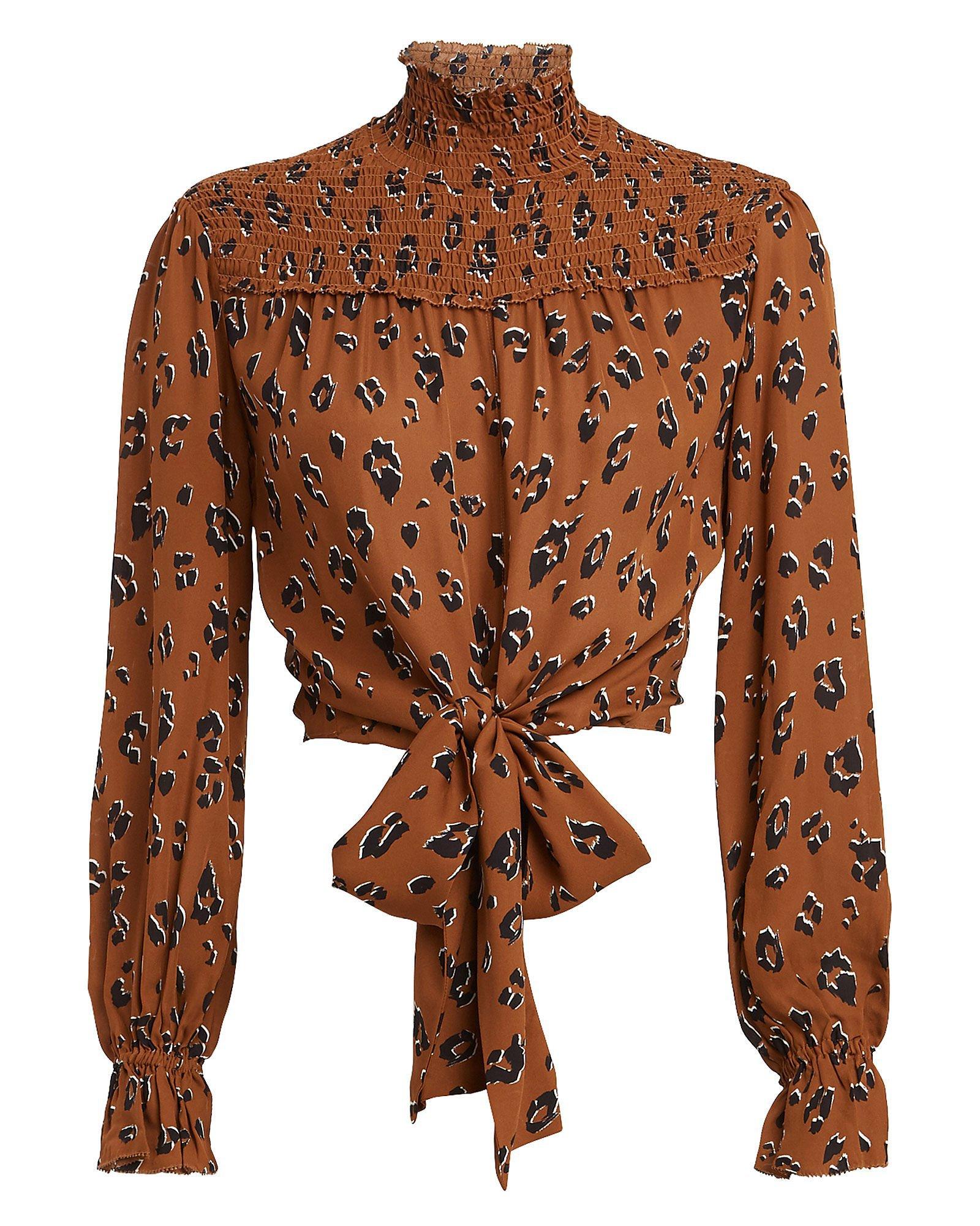 Leopard Print Georgette Blouse