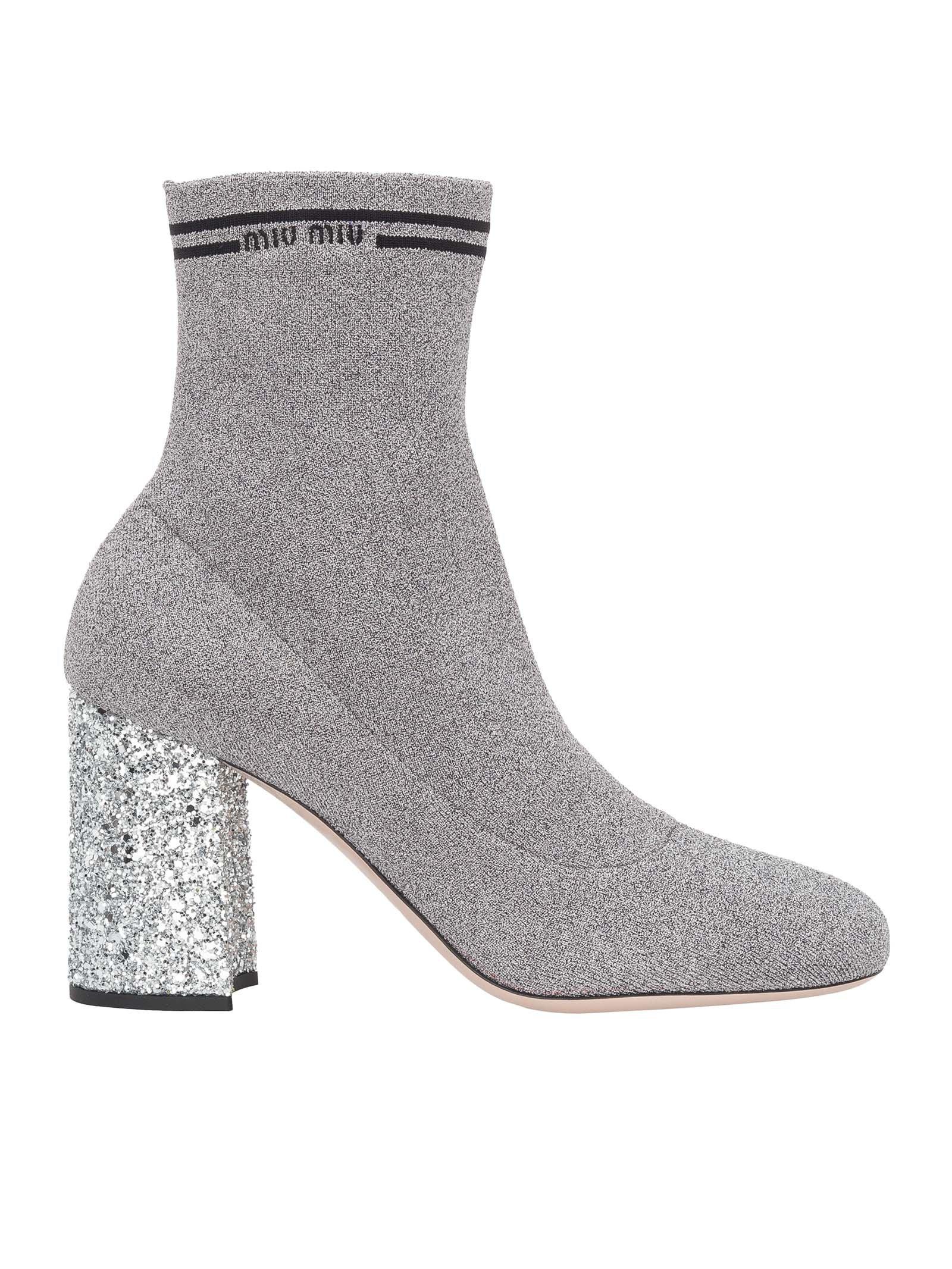 Miu Miu Sock Ankle Boot