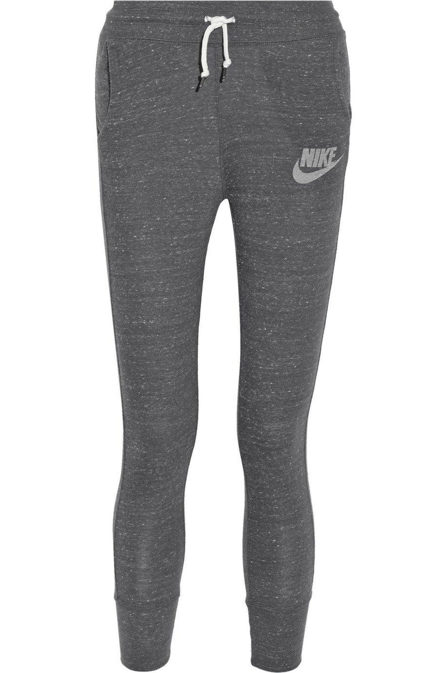 Nike | Gym Vintage organic cotton-blend jersey track pants | NET-A-PORTER.COM