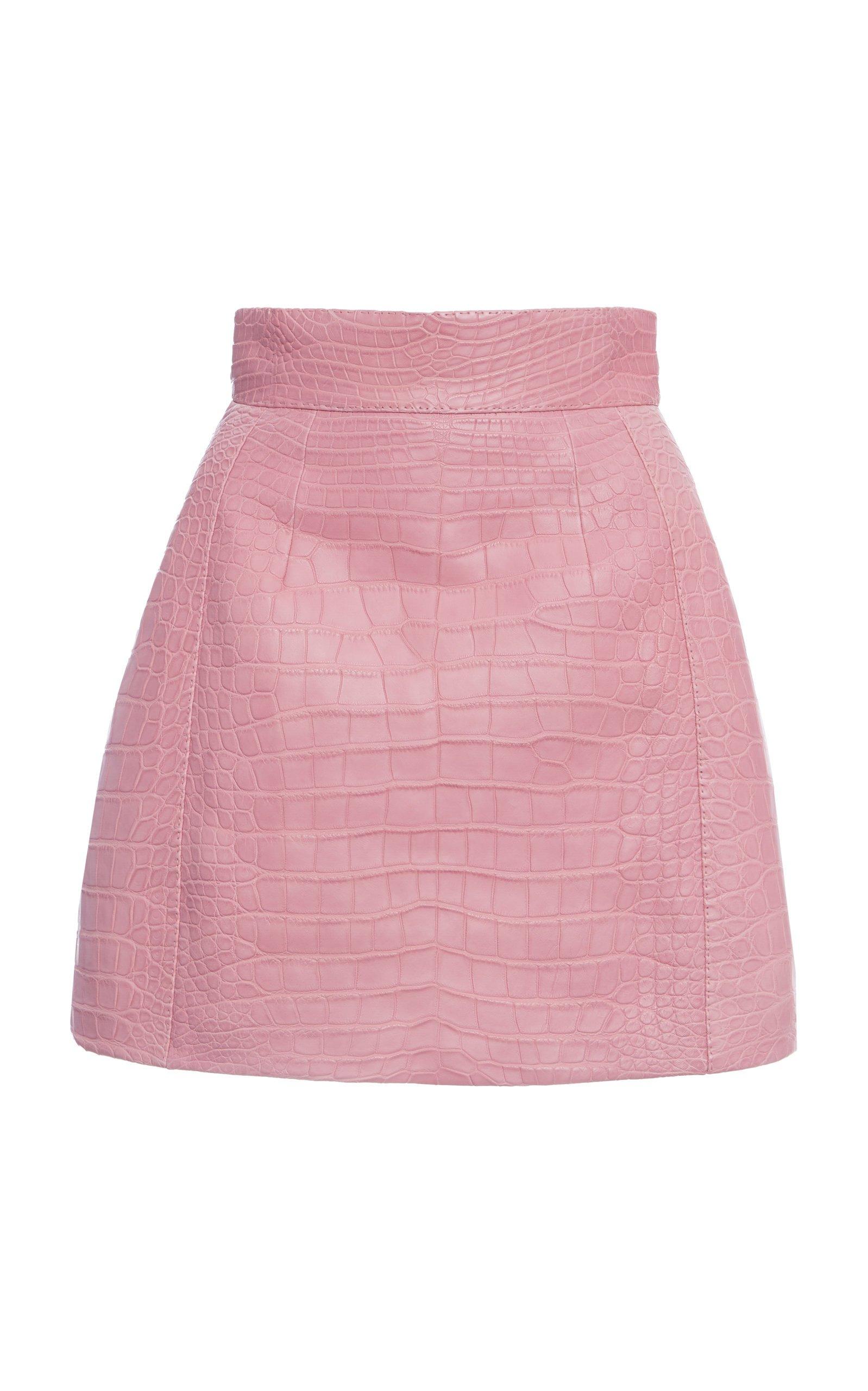 Dolce & Gabbana Crocodile Mini Skirt Size: 36