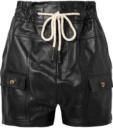 Leather Shorts - Black
