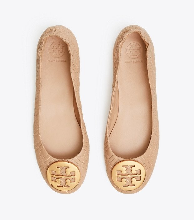 Tory Burch Minnie Travel Ballet Flat, Quilted Leather: Women's Shoes