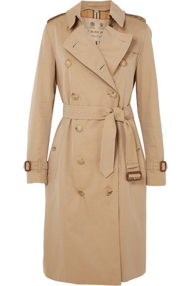 Burberry | The Kensington Long cotton-gabardine trench coat | NET-A-PORTER.COM