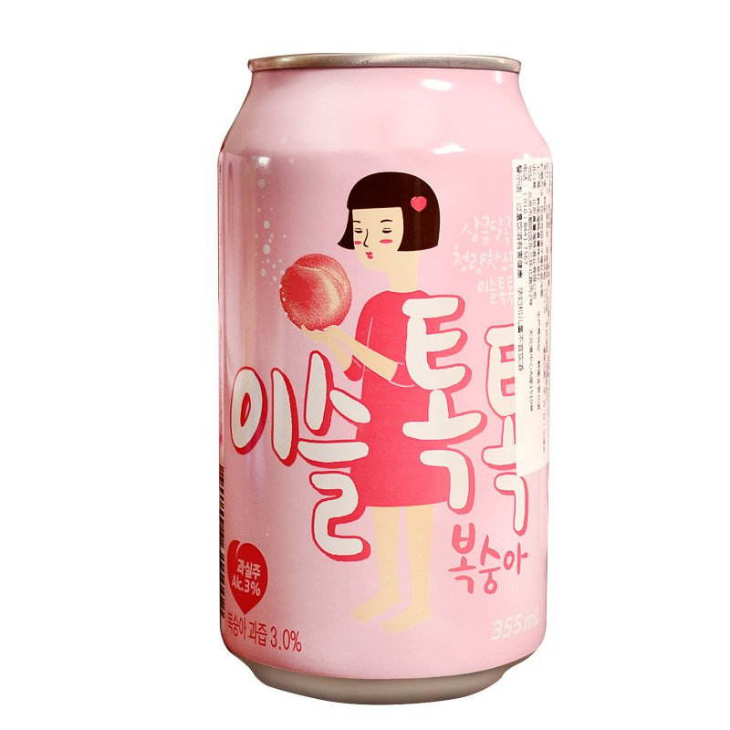 [USD 9.08] Korea Imports true Dew peach liquor soda Drink carbonated sake IU endorsement toot Soju 355ml - Wholesale from China online shopping | English Taobao | Taobao Agent - ChinaHao.com