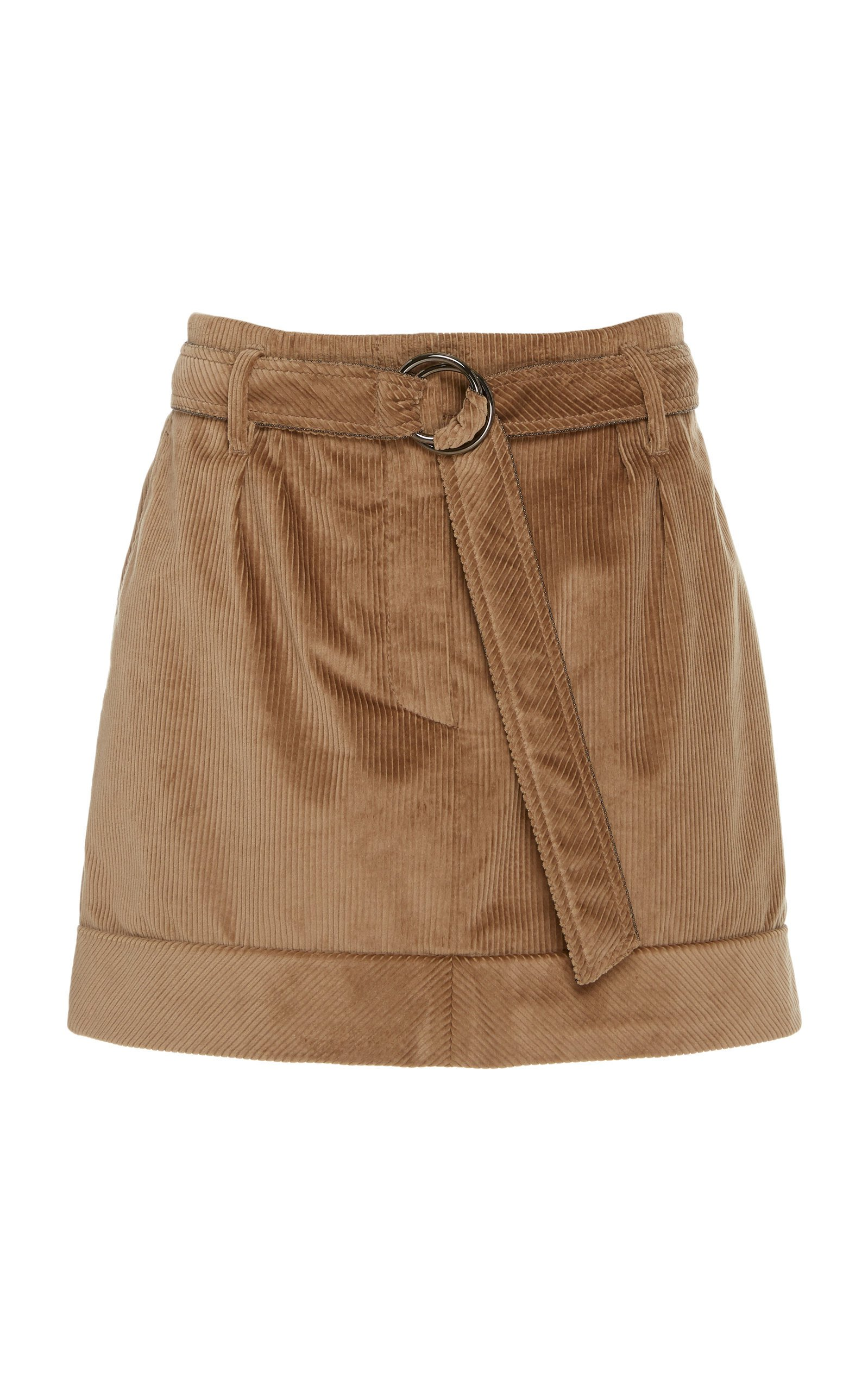 Brunello Cucinelli Belted Corduroy Mini Skirt