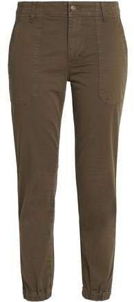 Cropped Cotton-blend Twill Slim-leg Pants