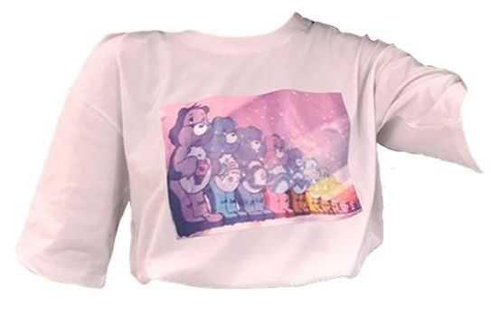care bears pastel pink shirt