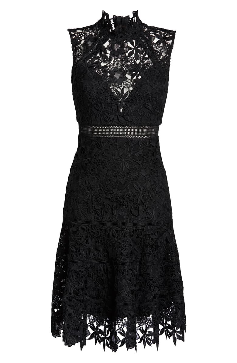 Bardot Elise Lace Cocktail Dress black