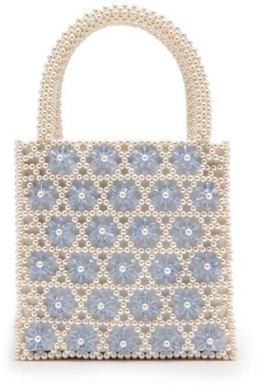 Venezia Faux Pearl Beaded Bag - Womens - Cream Multi
