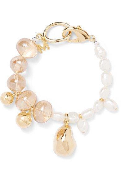 Mounser | Gold-plated glass and pearl bracelet | NET-A-PORTER.COM