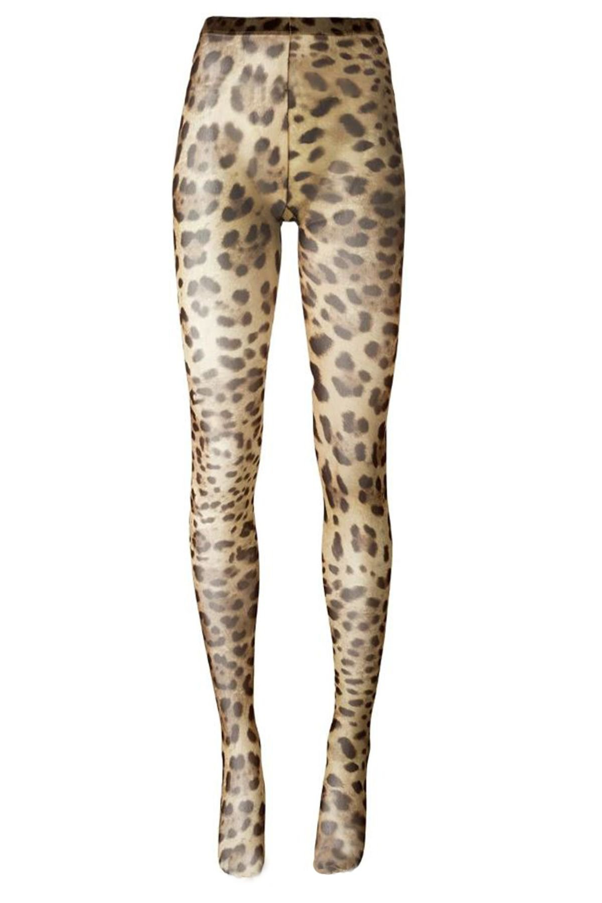 Dolce & Gabbana Leopard-printed Tights